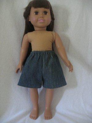 Denim shorts for American girl dolls