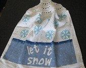 Let It Snow kitchen towel