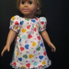 Primary color Heart Nightgown for American Girl