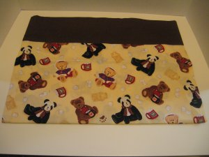 Teddy bear print pillowcase for kids