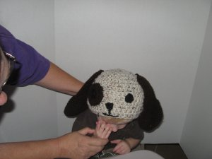 Puppy dog crocheted hat for kids