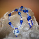 Fossil Stone, Moonstone & Sodalite Necklace