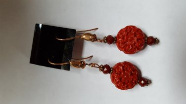 Imitation Cinnabar Earrings