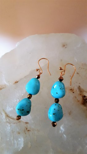 Imitation Turquoise Earrings