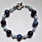 Dumortierite & Blue Lace Agate Bracelet
