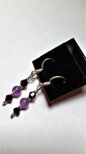 Amethyst & Crystal Earrings