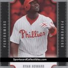 2007 Upper Deck Triple Play Performers #TPRH Ryan Howard