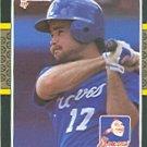 1987 Donruss #634 Glenn Hubbard
