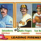 1981 Topps #8 Dan Quisenberry/Rollie Fingers/Tom Hume LL