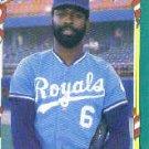 1987 Fleer Star Stickers #125 Willie Wilson