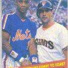 1989 Fleer 632 Darryl Strawberry/Will Clark UER