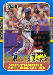 1987 Donruss Highlights #49 Darryl Strawberry