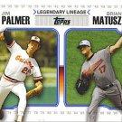 2010 Topps Legendary Lineage #LL71 Jim Palmer/Brian Matusz