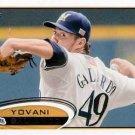 2012 Topps #654 Yovani Gallardo