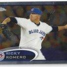 2012 Topps Chrome #86 Ricky Romero