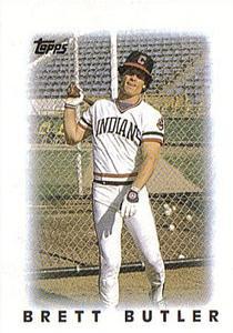 1986 Topps Mini Leaders #12 Brett Butler