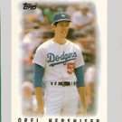 1986 Topps Mini Leaders #45 Orel Hershiser