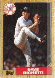 1987 Topps 40 Dave Righetti