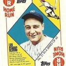 2010 Topps Blue Back #21 Lou Gehrig