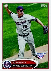 2012 Topps Opening Day #126 Danny Valencia
