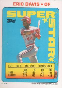 1990 Topps Sticker Backs #13 Eric Davis