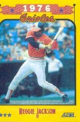 1988 Score 501 Reggie Jackson O's