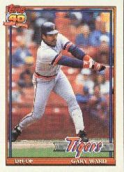 1991 Topps #556 Gary Ward