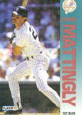 1992 Fleer 237 Don Mattingly