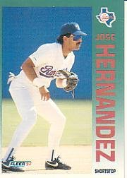 1992 Fleer 307 Jose Hernandez RC