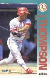 1992 Fleer 595 Milt Thompson