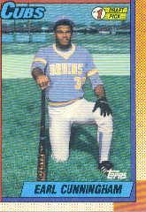 1990 Topps 134 E.Cunningham FDP RC