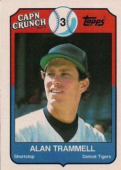 1989 Topps Cap'n Crunch #12 Alan Trammell