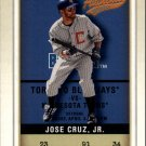 2002 Fleer Authentix 91 Jose Cruz Jr.