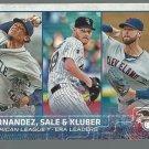 2015 Topps 341 Corey Kluber/Chris Sale/Felix Hernandez LL