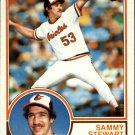 1983 Topps 347 Sammy Stewart