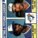 1984 Topps 606 Lloyd Moseby/Dave Stieb TL