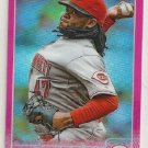 2015 Topps Chrome Pink Refractors 104 Johnny Cueto