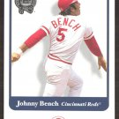 2001 Greats of the Game 107 Johnny Bench