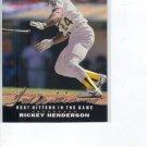 1992 Upper Deck Williams Best T7 Rickey Henderson