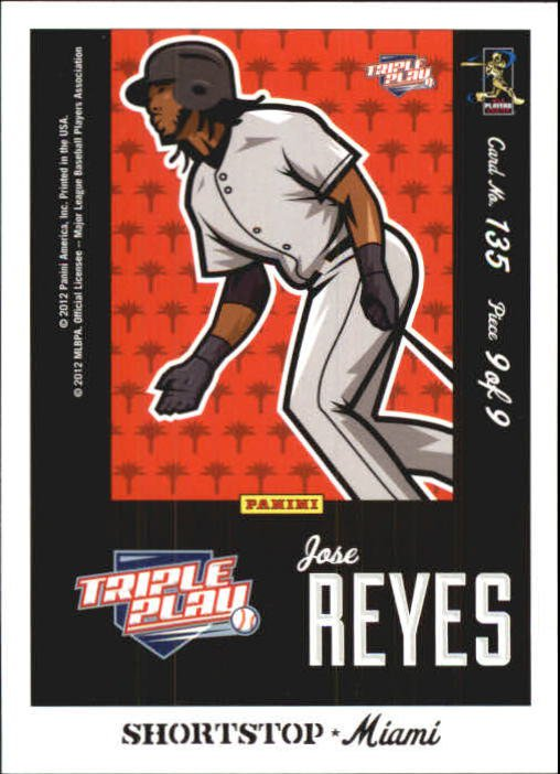 2012 Triple Play 135 Jose Reyes Puzzle