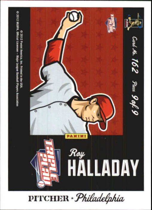 2012 Triple Play 162 Roy Halladay Puzzle