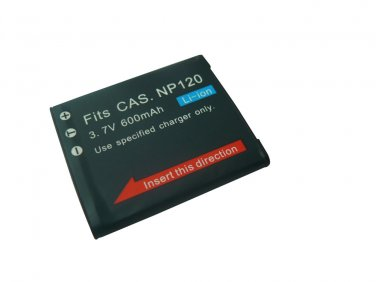 600mAh Replacement Casio NP-120 NP120 Li-ion Rechargeable Digital Camera Battery