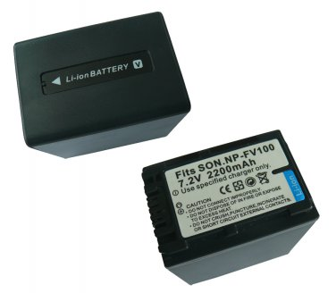 2200mAh Replacement Camcorder battery NP-FV100 Sony