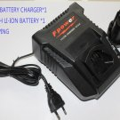 Battery & Charger for BOSCH AL1130V BC430 + 10.8V/12V 1.5Ah BAT411 GSB 10.8 GSR 10.8 V-Li