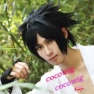 Death Note Short black Naruto Uchiha Sasuke Anime cosplay  wig