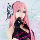 Vocaloid Luka Dark Pink Long Straight Cosplay Wig 80CM