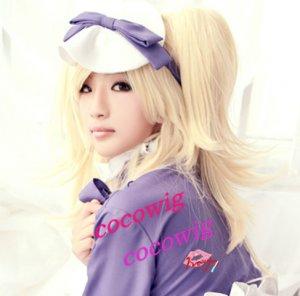 Black Butler II 2 Kuroshitsuji Alois Trancy Girl/Female Pale Blonde Cosplay Wig