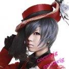 Black Butler Kuroshitsuji Ciel Phantomhive Blue Gray Cosplay wig