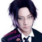 Black Butler II Kuroshitsuji Claude Short Black Cosplay Wig