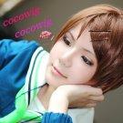 Aida Riko Kuroko's Basketball Short Brown Anime Cosplay wig 35CM